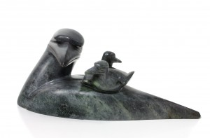 Loon Mother in soapstone,