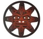 Rosewood Sun Mask Trivet