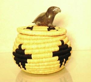 Soapstone Basket, Artist: Mary Eyaituk