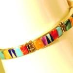Bracelet multi couleur, corail, turquoise, opale, huîtres épineuses, lapis-lazuli