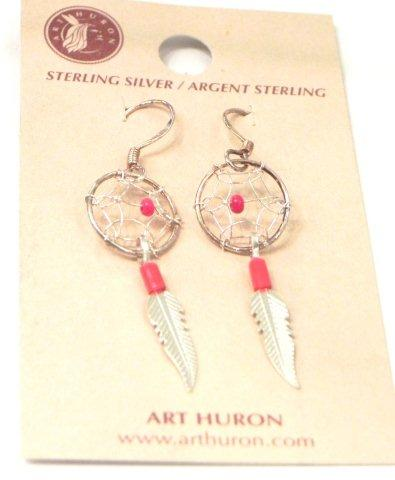 Coral Dream Catcher Earrings